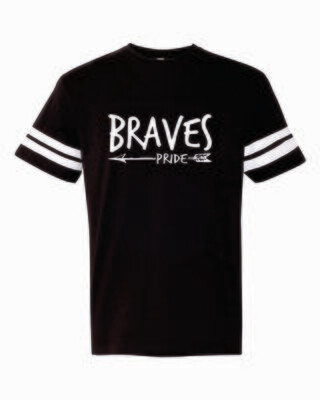 BRAVES PRIDE Football Tee, 2 colors available