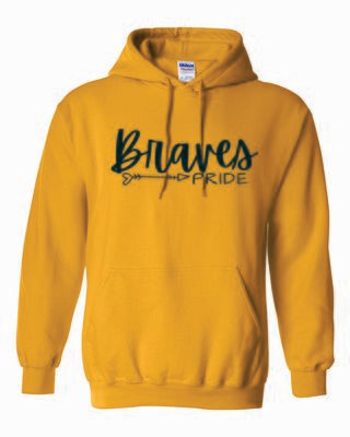 Braves PRIDE Hooded Sweatshirt, 5 colors available