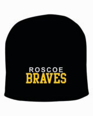 """ROSCOE BRAVES 8"""" Knit Beanie, Embroidered, 3 Colors Available"""