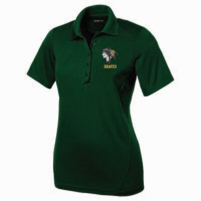 BRAVES Ladies Embroidered Polo, 3 Colors Available