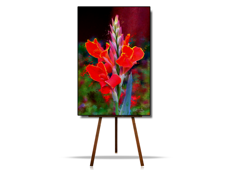 Red Flowers Artwork,  Abstract Flowers Art, Flower Digital Art, Flowers Artwork