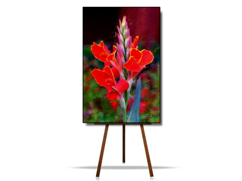 Red Flowers Artwork,  Abstract Flowers Art, Flower Digital Art, Flowers Artwork