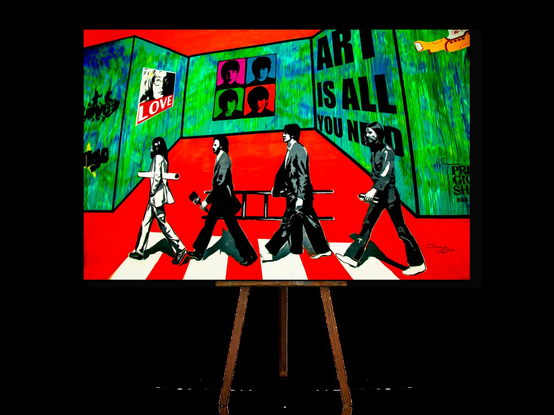 Urban Art, Urban Artwork, Beatles Art, Beatles Wall Art