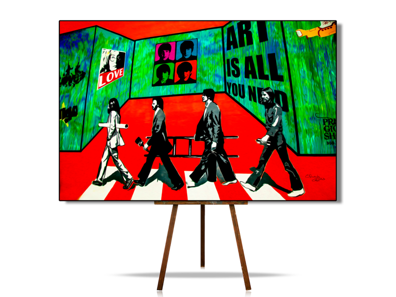 Urban Art, Urban Artwork, Beatles Art, Beatles Wall Art