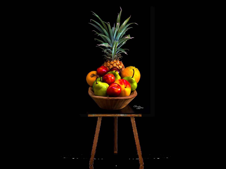 Still Life Art, Realistic Still Life, Tropical Fruits Still Life Print