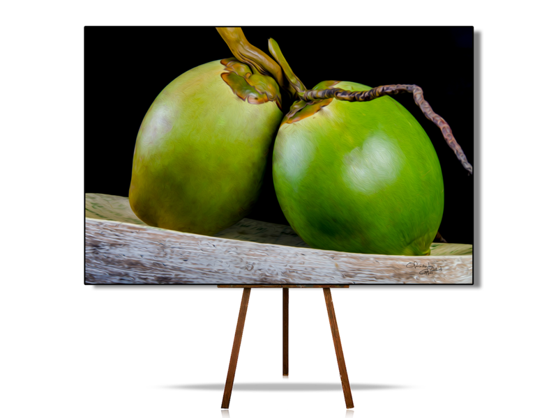 Coconut, Still Life Art, Realistic Still Life