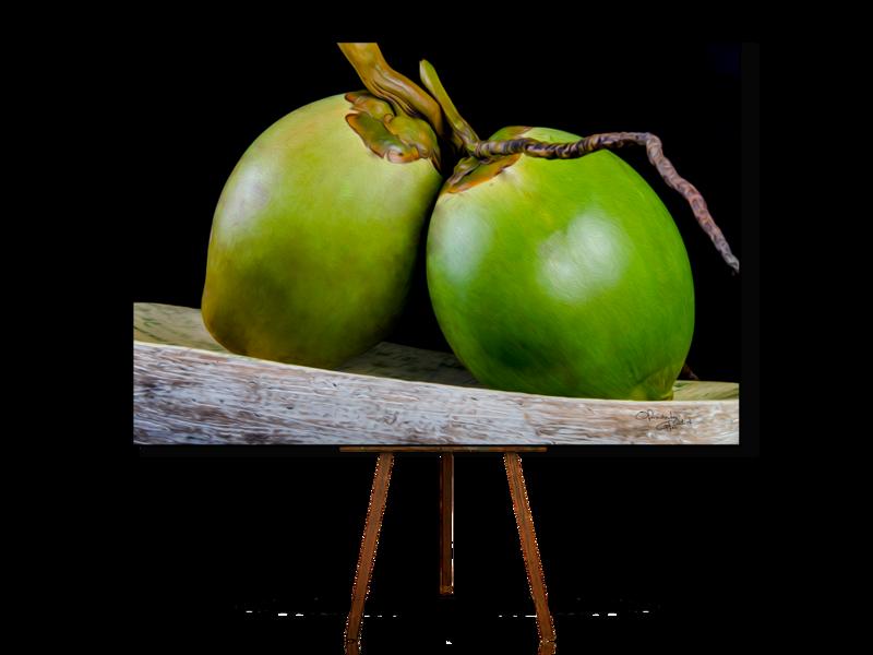 Coconut, Still Life Art, Realistic Still Life