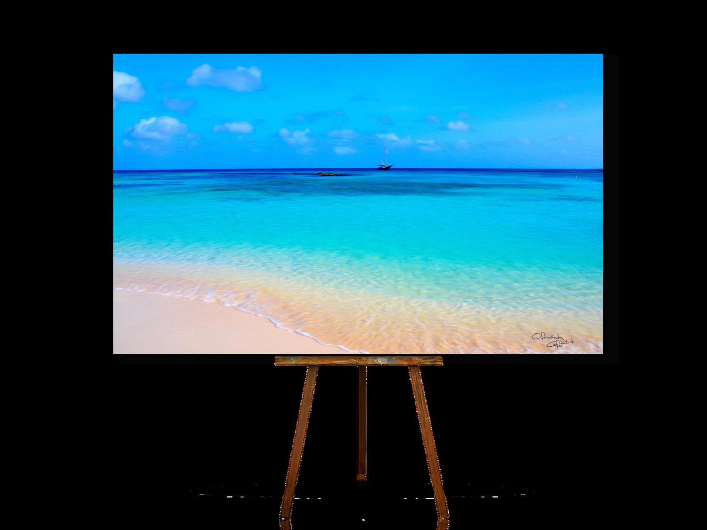 Palm Beach Aruba, Beach Wall Art, Beach Artwork, Ocean Art