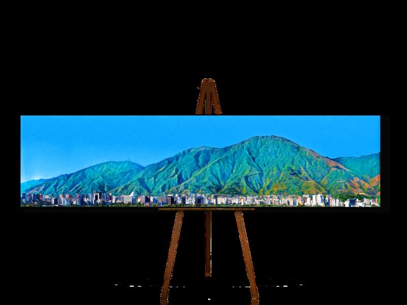 Avila en Geometria, Geometric Art, Cerro Avila, Caracas