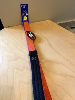 MicroBatch Padded Handle Dog Leash 6 foot - Orange & Pink
