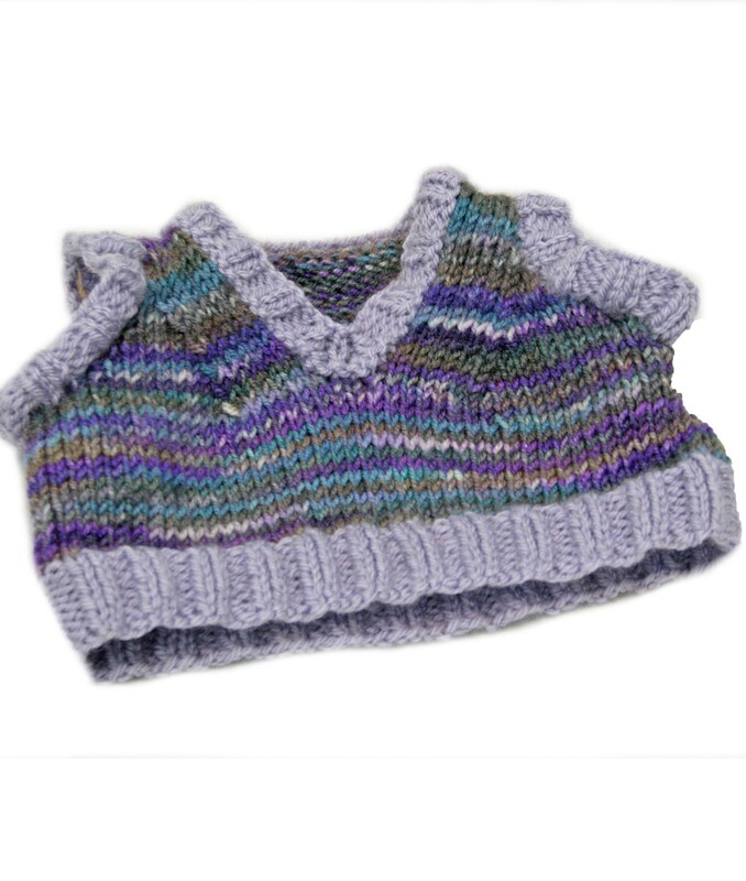 Hand Knitted sleeveless jumper