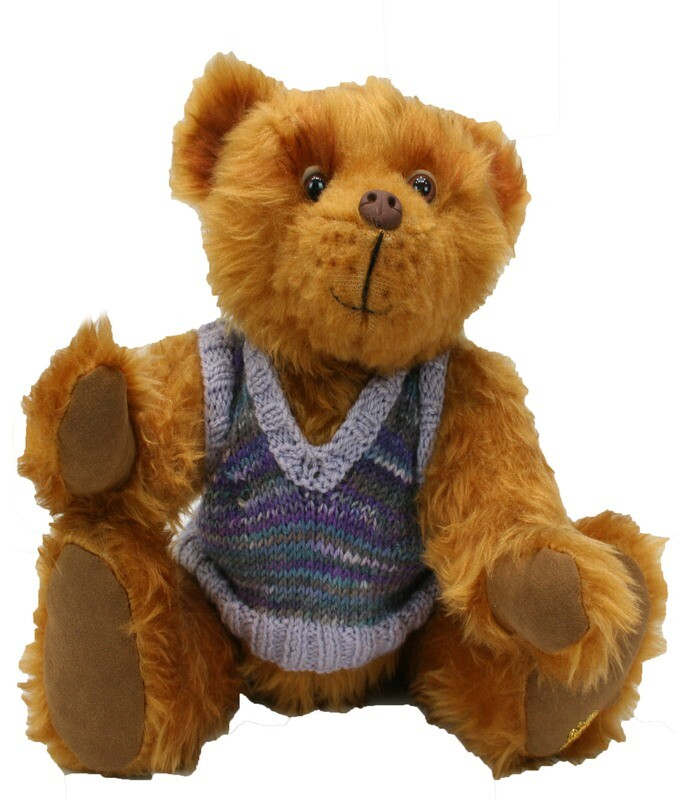 Theo the Faux Fur Billy Bear in Sleeveless Jumper