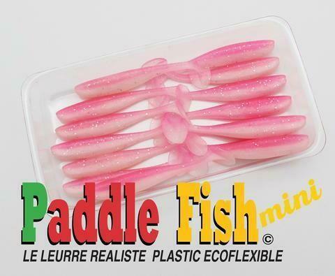 PADDLE FISH MINI LEURRE 2.5po BUBBLE GUM