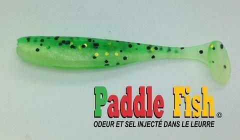 PADDLE FISH MINI LEURRE 2.5po VERT GLITTER
