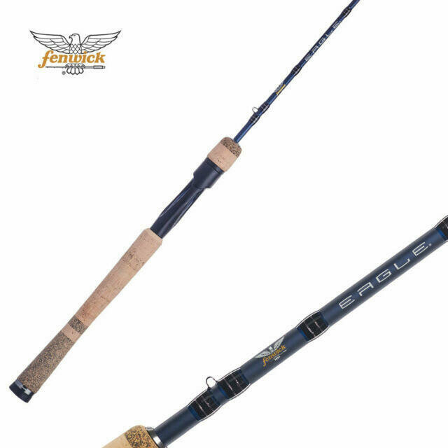 "FENWICK EAGLE CANNE A LANCER LEGER 6'-6"" MED FAST 2PC"