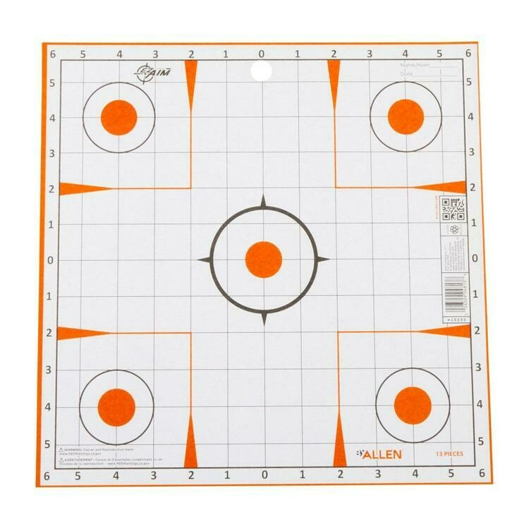 ALLEN EZ AIM CIBLE D'AJUSTEMENT 12X12 PQ 12