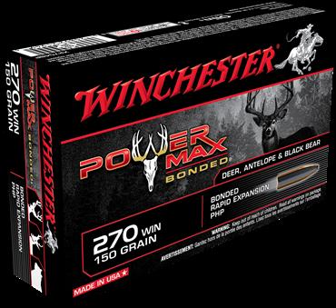 WINCHESTER MUNITION POWER MAX 270 WIN 150GR
