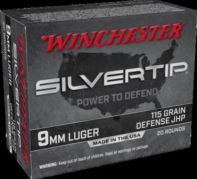 WINCHESTER SILVERTIP 9MM DEFENSE JHP 115G