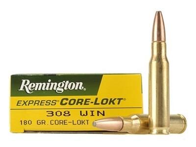 Remington Munition Core-Lokt ®, PSP 308 Winchester 180gr
