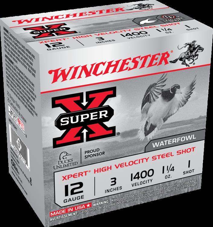 WINCHESTER SUPERX,  12GA, 3'', 1OZ1/4, QTY/25, #1