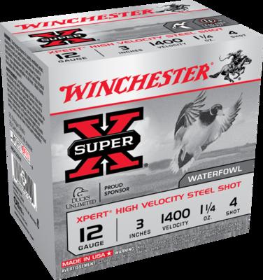 WINCHESTER MUNITIONS XPERT HIGH VEL. .12 #4  3'' 1 1/4 OZ(25)