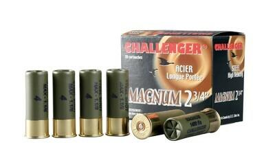 CHALLENGER CARTOUCHE 12GA 3 SUPER MAG 3' 1 1/4oz BBB PQT20