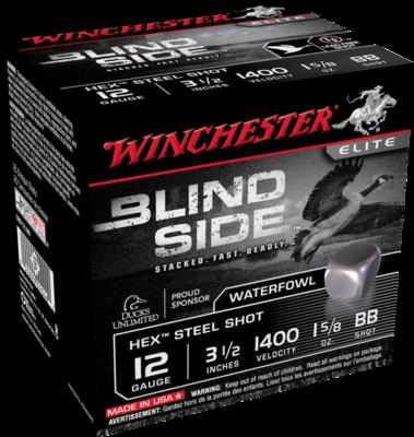 WINCHESTER BLIND SIDE HIGH VEL .12 1 5/8OZ BB3 1/2'' (25)
