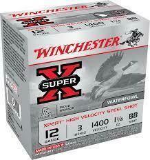 WINCHESTER SUPERX, 12GA, 3'', 1 1/4OZ, QTY:25, #BB