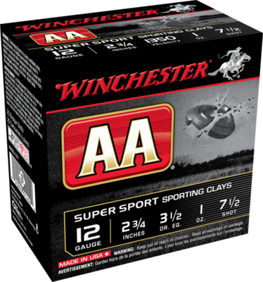 WINCHESTER AASPORTING 12G 2'' 3/4 #7 1/2 1OZ