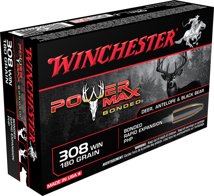 WINCHESTER MUNITION POWER MAX .308 WIN 180GR
