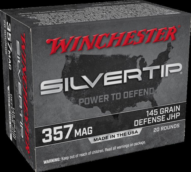 WINCHESTER SILVERTIP 357MAG DEFENSE JHP 145G