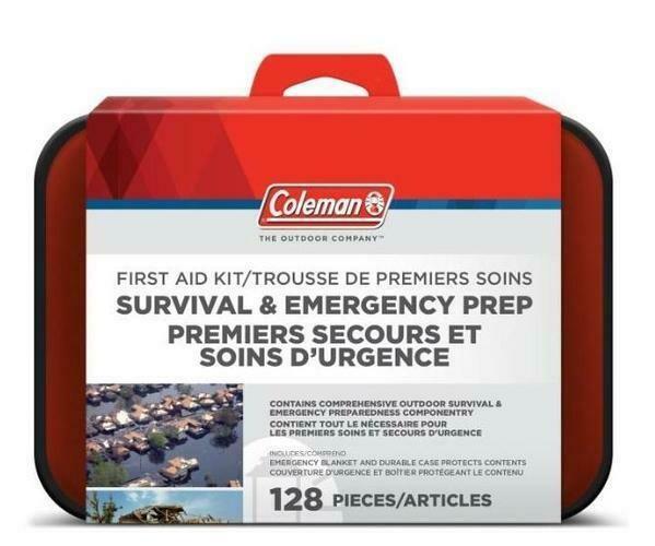 COLEMAN TROUSSE DE PREMIER SOINS ET DE SURVIE 128 PC