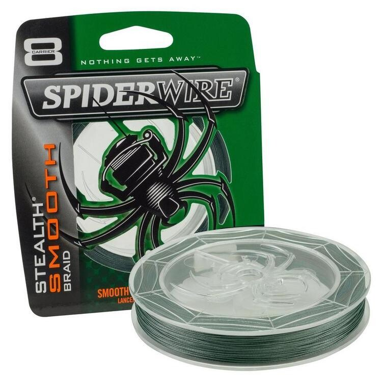 SPIDERWIRE STHEALTH SMOOTH FIL TRESSE 15LB VERT MOUSSE 125 VERGES