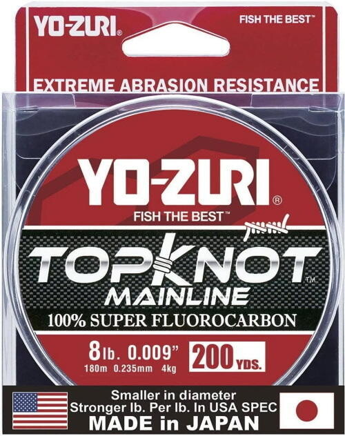 YO-ZURI TOPKNOT MAINLINE CLAIR 8LBS 200 VERGES