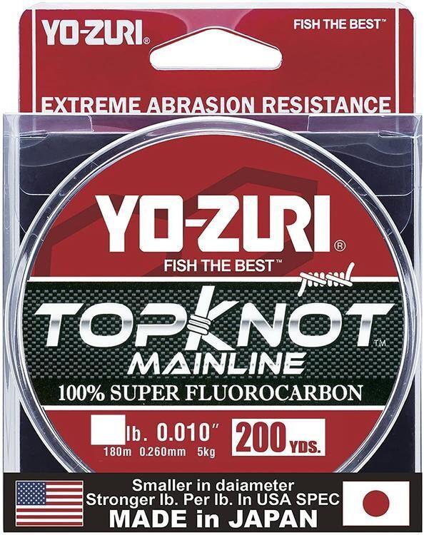 YO-ZURI TOPKNOT MAINLINE CLAIR 12LBS 200 VERGES