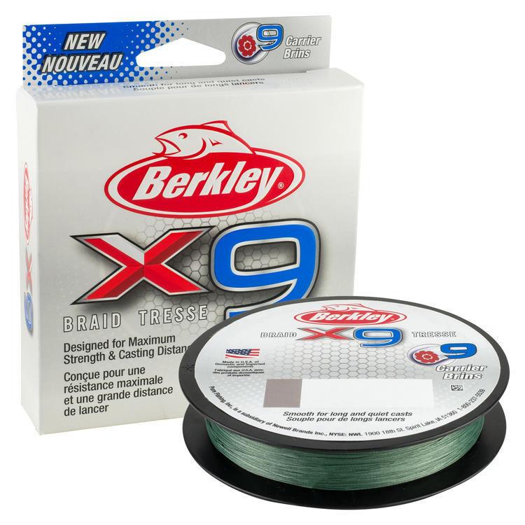 BERKLEY FIL TRESSE X9 20MM300M LVGRN (LOVIS GREEN)