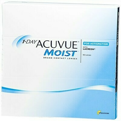 1-DAY ACUVUE® MOIST® Brand for ASTIGMATISM 90Pack