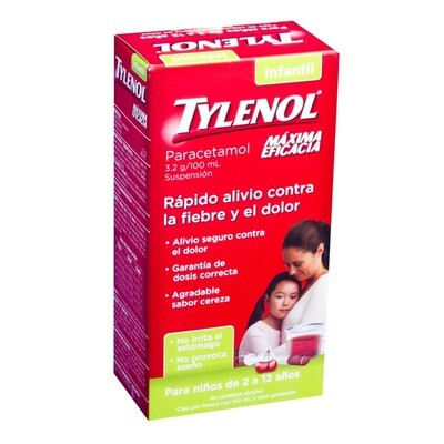 TYLENOL SUSPENSION INFANTIL CEREZA 120ML