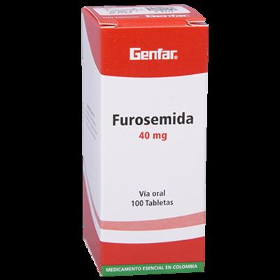 FUROSEMIDA 40 MG X 100 TABLETAS (GENFAR) (UNIDAD)