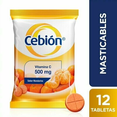 CEBIÓN MASTICABLE MANDARINA X 12 TAB (UNIDAD)