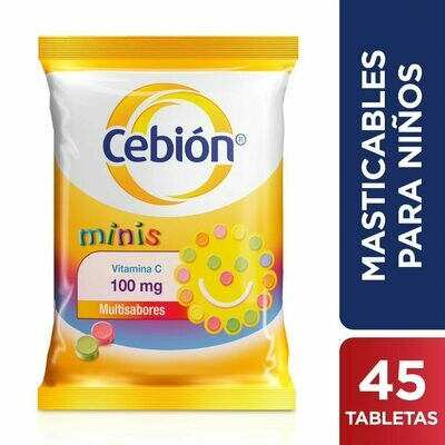 CEBIÓN  MINIS VITAMINA C 100 MG  X 45 TABLETAS DISPERSABLES