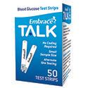 Omnis Health Embrace® TALK Blood Glucose Test Strips, 10ct