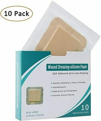 NuMed Post-Op Silicone Absorbent Dressing, 4