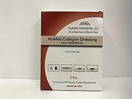 NuMed Collagen Dressing, 2x2, 5BX, 10BX/CS