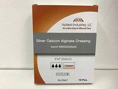 NuMed Silver Alginate Dressing, 2x2,,10BX, 60BX/CS