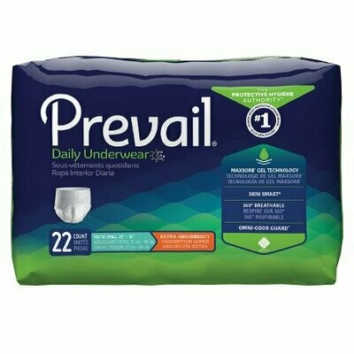 Prevail Extra Absorbency Underwear, Youth / Small Adult Pull On -PV-511 - Pack of 88