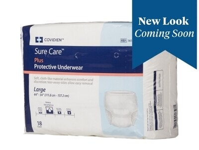 Unisex Adult Absorbent Underwear Sure Care™ Plus Pull On with Tear Away Seams Large Disposable Heavy Absorbency BG/18