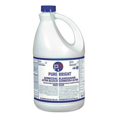 Liquid Bleach, 1gal Bottle, 3/Carton CT/3
