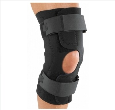 Knee Brace Reddie® Brace Medium Wraparound / Hook and Loop Straps 18 to 20-1/2 Inch Circumference Left or Right Knee