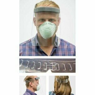 Face Shield EZ Fit SplashMask™ One Size Fits Most Full Length Anti-fog Disposable NonSterile  SHIELD, FACE EZ FIT SPLASH MASK (100/CS)